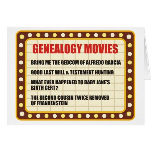 Genealogy Movies Greeting Card
