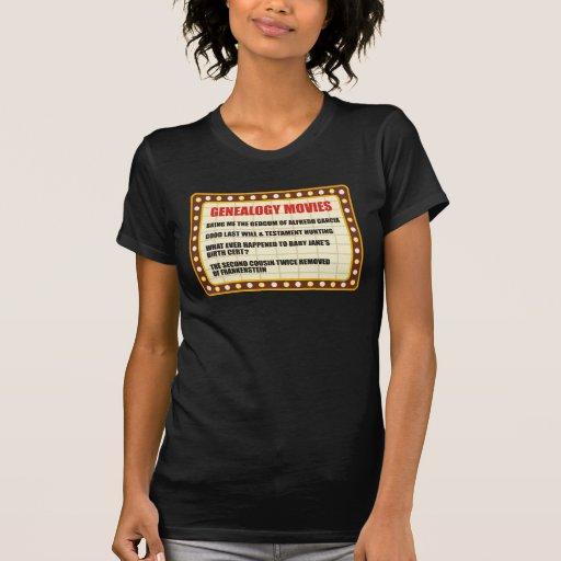 Genealogy Movies Shirt