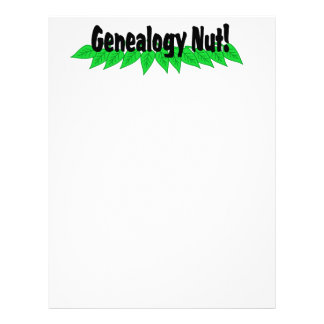 Genealogy Nut Customized Letterhead
