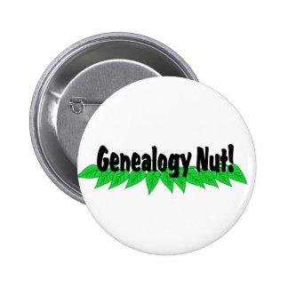 Genealogy Nut Pinback Button