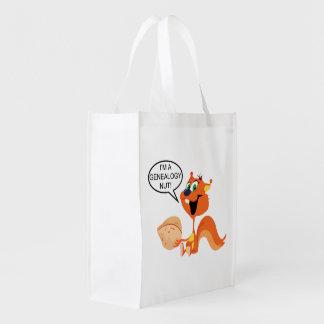 Genealogy Nut Reusable Grocery Bag