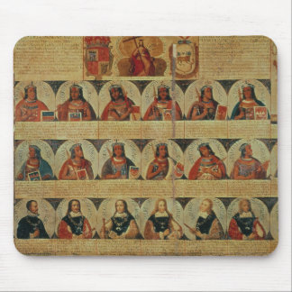 Genealogy of the Inca rulers and their Spanish Mouse Pad