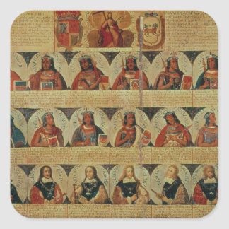Genealogy of the Inca rulers and their Spanish Square Sticker