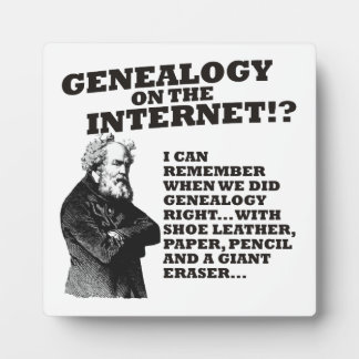 Genealogy On The Internet? Plaque