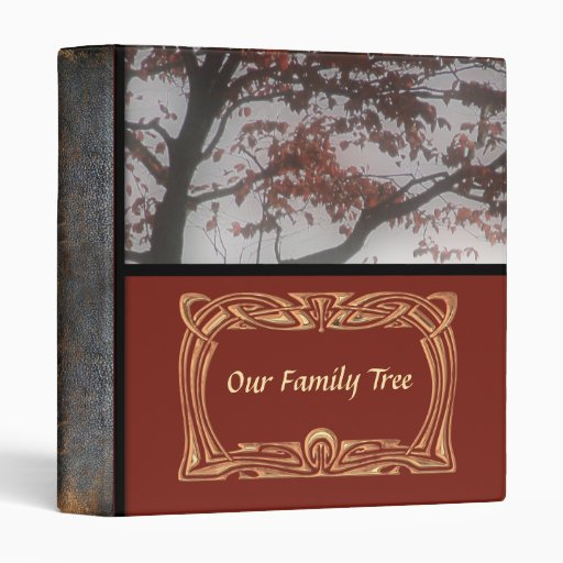 Genealogy Our Family Tree Leather Look Photo Book Vinyl Binder