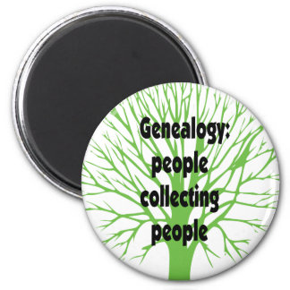 Genealogy: People Collecting People 2 Inch Round Magnet