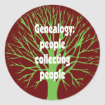 Genealogy: People Collecting People Classic Round Sticker