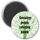 Genealogy: People Collecting People Fridge Magnet