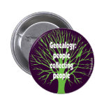 Genealogy: People Collecting People Pinback Button