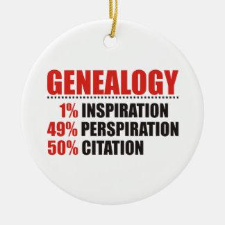 Genealogy Percentages Ceramic Ornament
