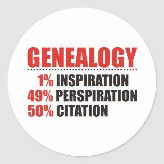 Genealogy Percentages Classic Round Sticker