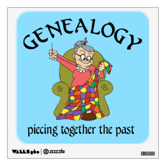 Genealogy - Pieceing Together The Past Wall Sticker