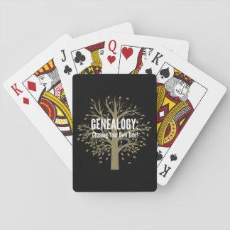 Genealogy Playing Cards (Black)