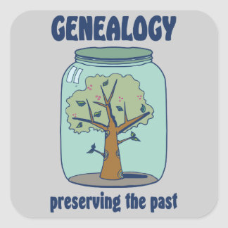 Genealogy Preserving The Past Square Sticker