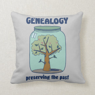 Genealogy Preserving The Past Throw Pillow