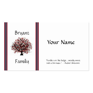 GENEALOGY PROFILE CARD Double-Sided STANDARD BUSINESS CARDS (Pack OF 100)