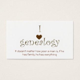 Genealogy Researcher, Customizable Business Card