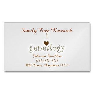 Genealogy Researcher Template Business Card Magnet