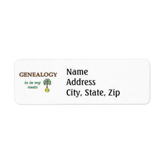 Genealogy Roots Labels