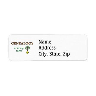 Genealogy Roots Label