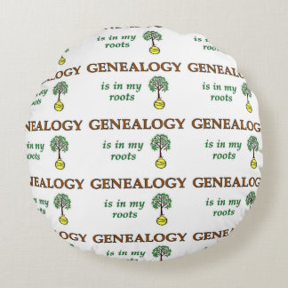 Genealogy Roots Round Pillow