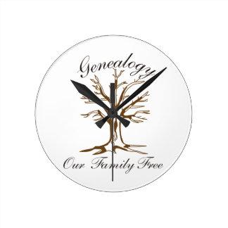 Genealogy Round Clock