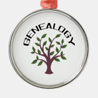 Genealogy Round Metal Christmas Ornament