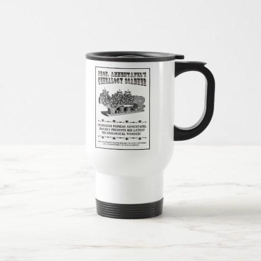 Genealogy Scanner 15 Oz Stainless Steel Travel Mug