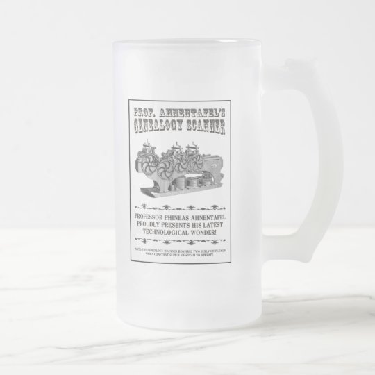 Genealogy Scanner Frosted Glass Beer Mug