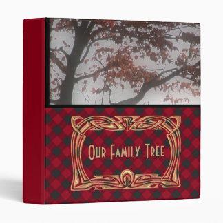 Genealogy Scottish Tartan Plaid   Our Family Tree 3 Ring Binder