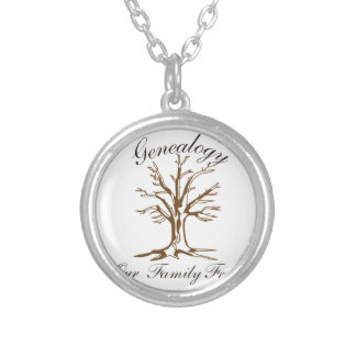 Genealogy Silver Plated Necklace