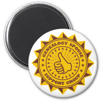 Genealogy Spouse Support Group 2 Inch Round Magnet
