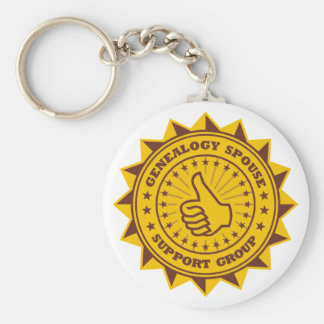 Genealogy Spouse Support Group Basic Round Button Keychain