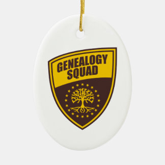 Genealogy Squad Ceramic Ornament
