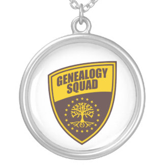 Genealogy Squad Round Pendant Necklace
