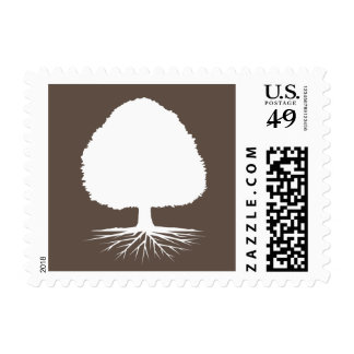 Genealogy stamps with family tree symbol