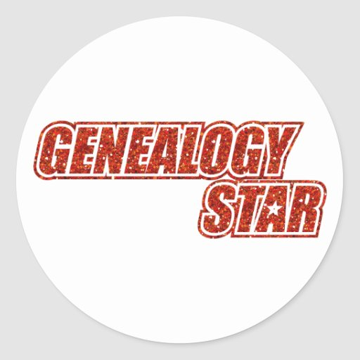 Genealogy Star Classic Round Sticker