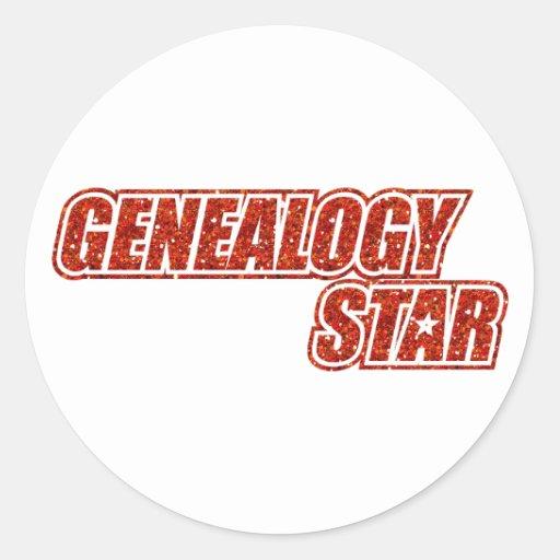 Genealogy Star Sticker