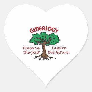 GENEALOGY HEART STICKER