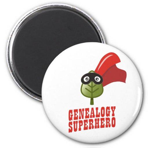 Genealogy Superhero 2 Inch Round Magnet