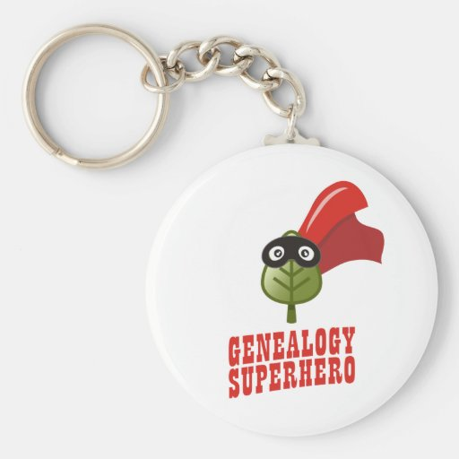 Genealogy Superhero Basic Round Button Keychain