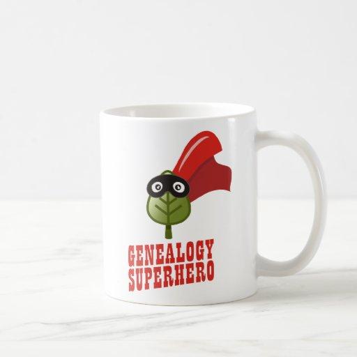 Genealogy Superhero Classic White Coffee Mug