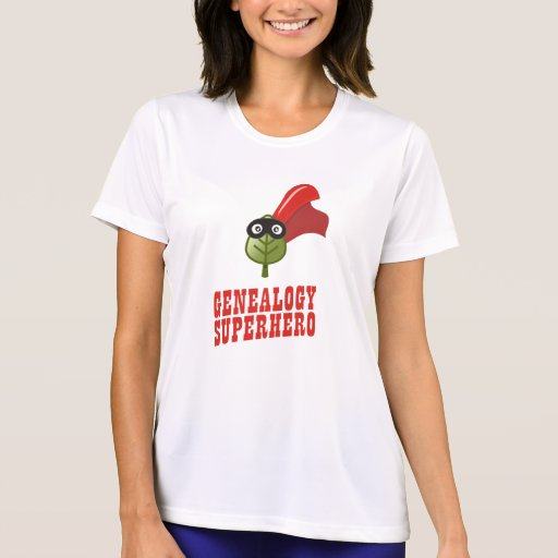 Genealogy Superhero T Shirt