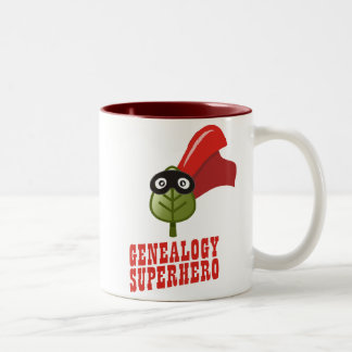 Genealogy Superhero Two-Tone Coffee Mug