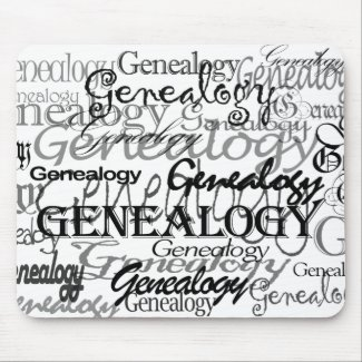 Genealogy Text Mousepad