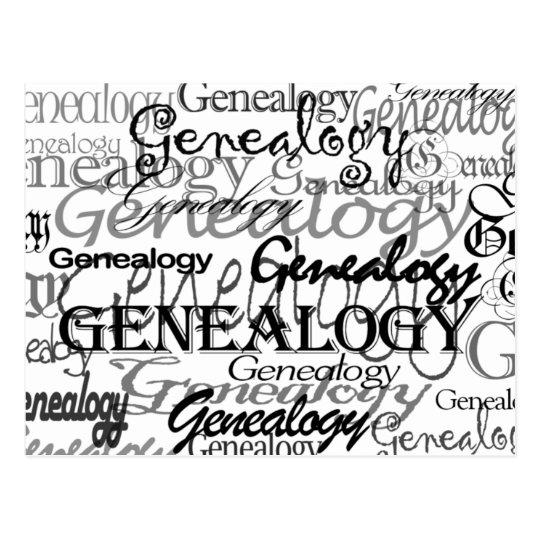 Genealogy Text Postcard