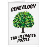 Genealogy - The Ultimate Puzzle Greeting Card
