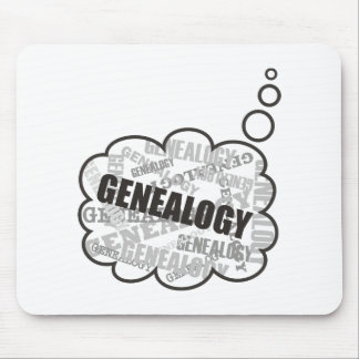 Genealogy Thoughts Mouse Pad