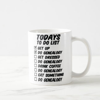 Genealogy To Do List Coffee Mug