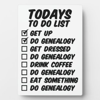 Genealogy To Do List Display Plaques